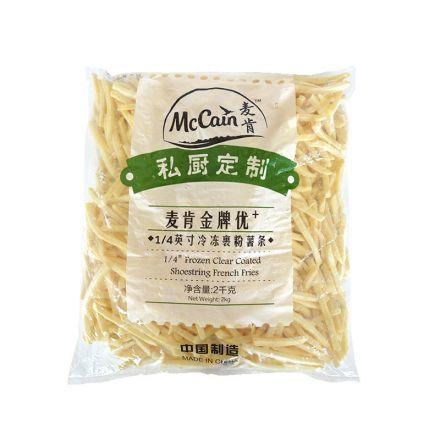 麦肯金牌优+1/4英寸冷冻裹粉细薯条5255   2kg/袋  6袋/箱