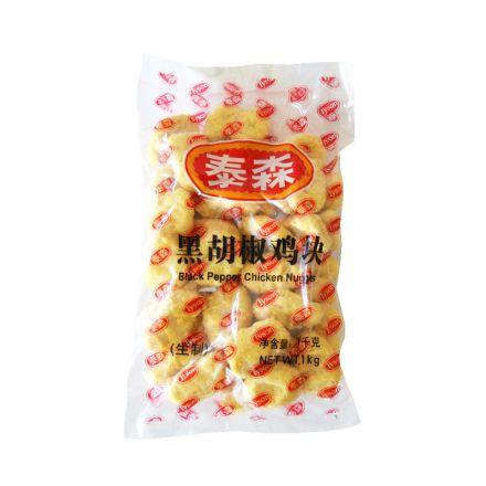 泰森 黑胡椒鸡块 1kg/袋 15袋/箱